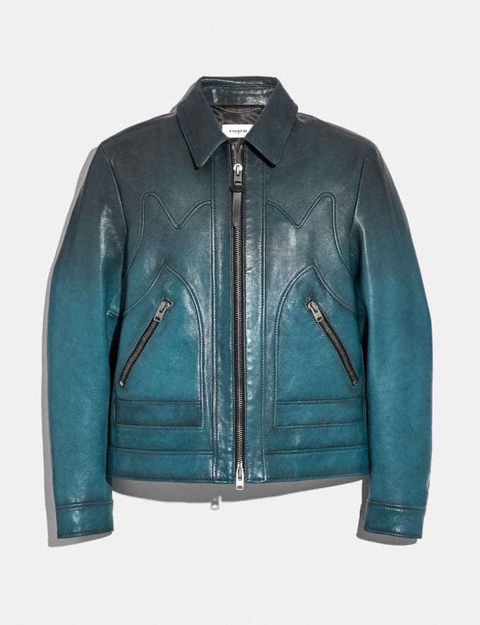 Coach Stinger Jacket Deep Turquoise