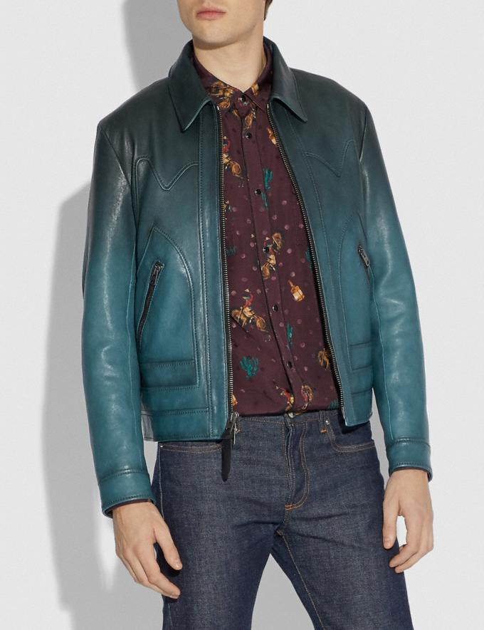 Coach Stinger Jacket Deep Turquoise Men Ready-to-Wear Coats & Jackets Alternate View 1