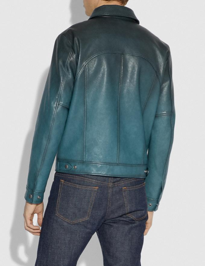 Coach Stinger Jacket Deep Turquoise Men Ready-to-Wear Coats & Jackets Alternate View 2