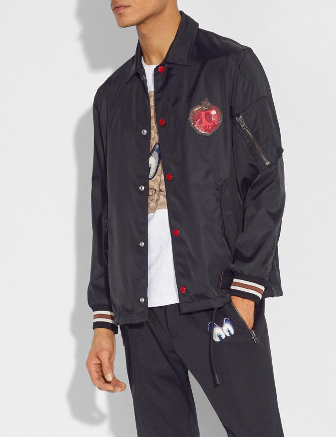 Coach Disney X Coach Poison Apple Coach'S Jacket Black Staff Sale Alternate View 1