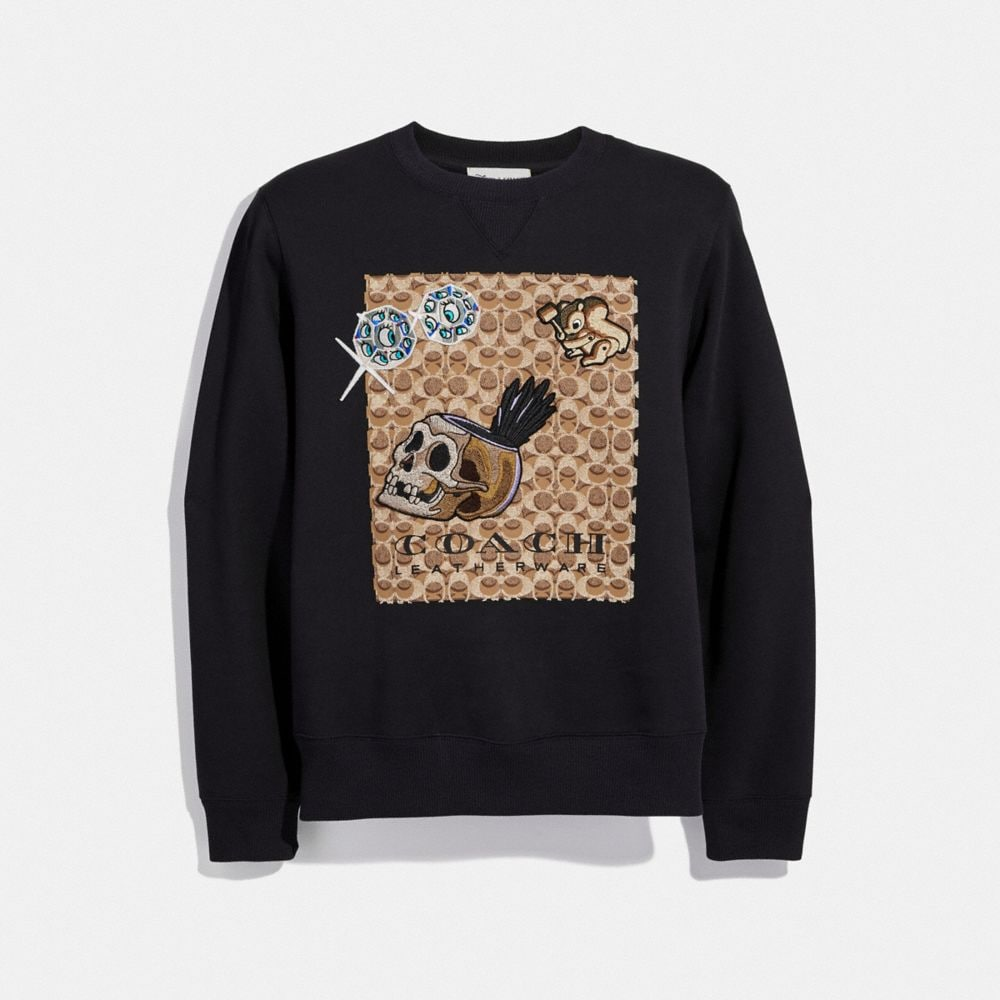 Coach Disney X Coach Signature Sweatshirt With Patches