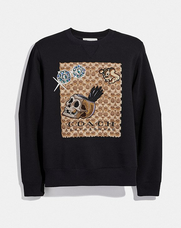 Coach Coach x Disney signature sweatshirt Sneakernews Buy Cheap Shop For 38rOkKaJ