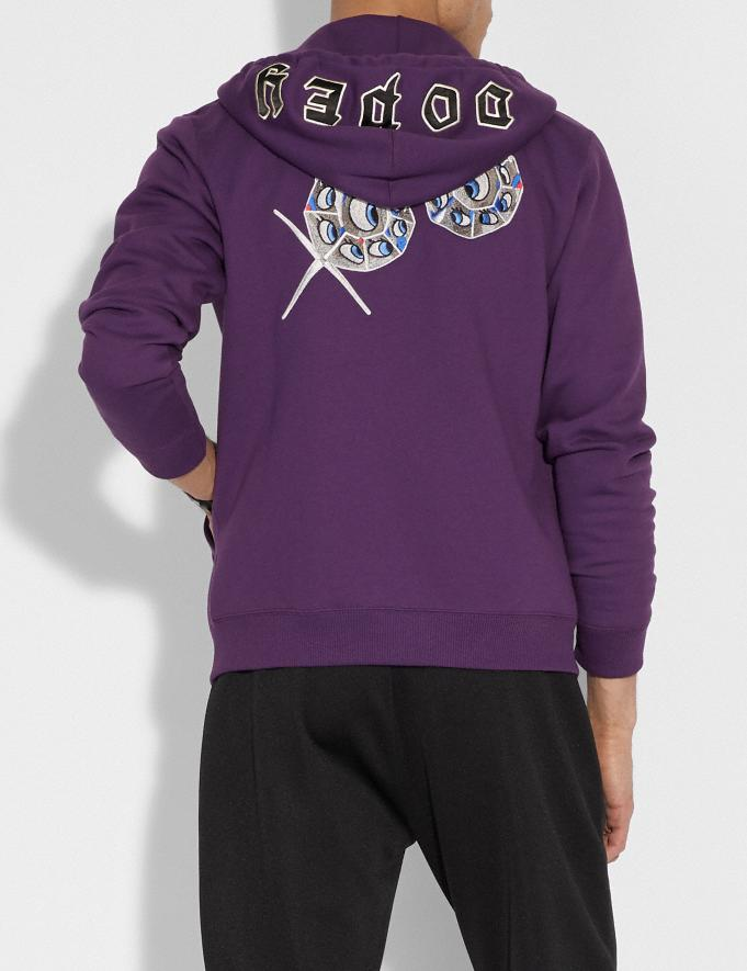 Coach Disney X Coach Dopey Hoodie Purple Staff Sale Alternate View 2
