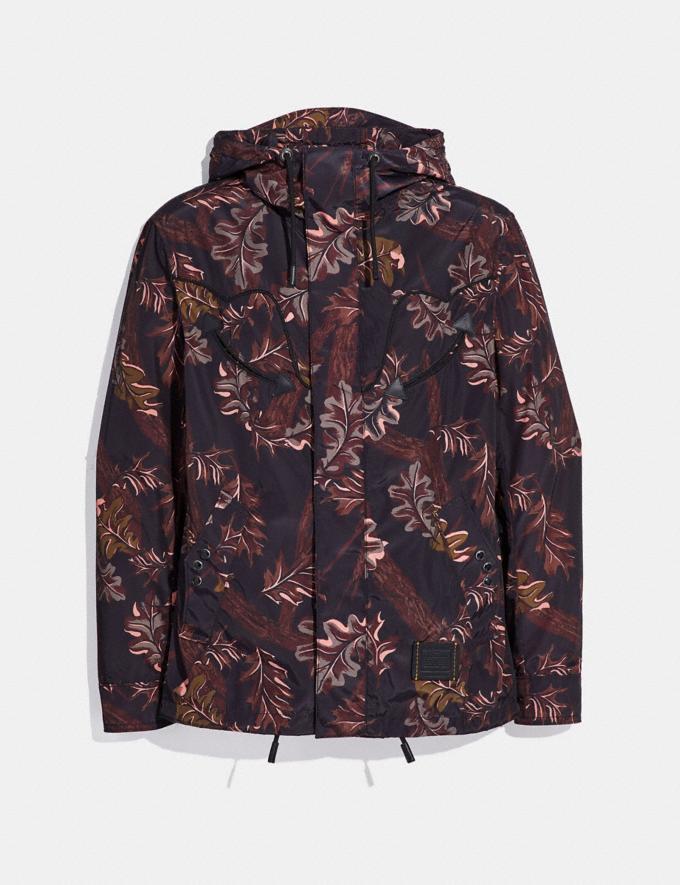 Coach Reversible Printed Windbreaker Foliage Camo/Pink Black Staff Sale