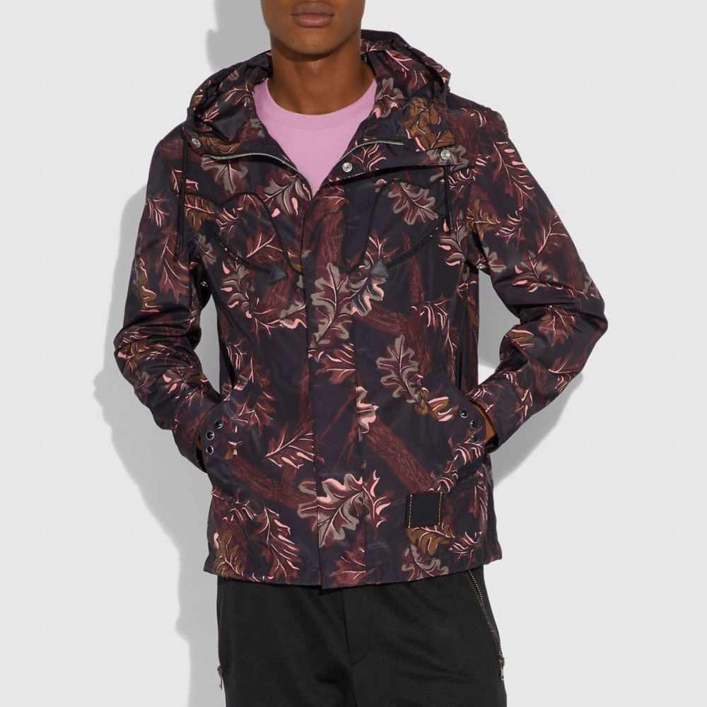 Coach Printed Windbreaker Alternate View 1