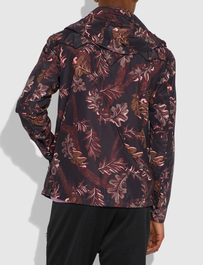 Coach Reversible Printed Windbreaker Foliage Camo/Pink Black Staff Sale Alternate View 2