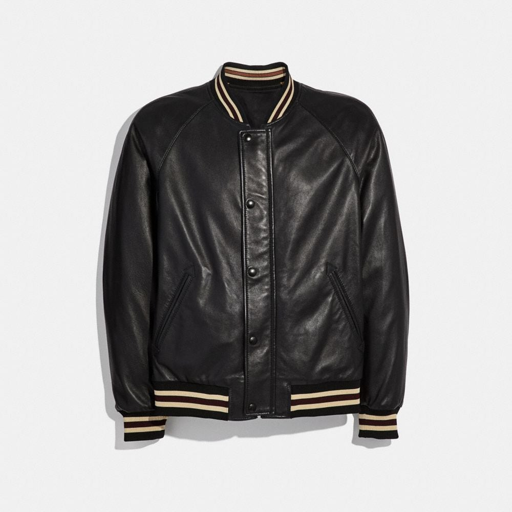 REVERSIBLE LEATHER SOUVENIR JACKET