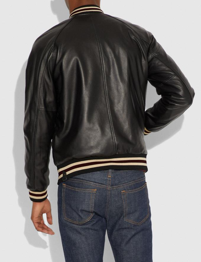 Coach Reversible Varsity Jacket Black/Caramel  Alternate View 3