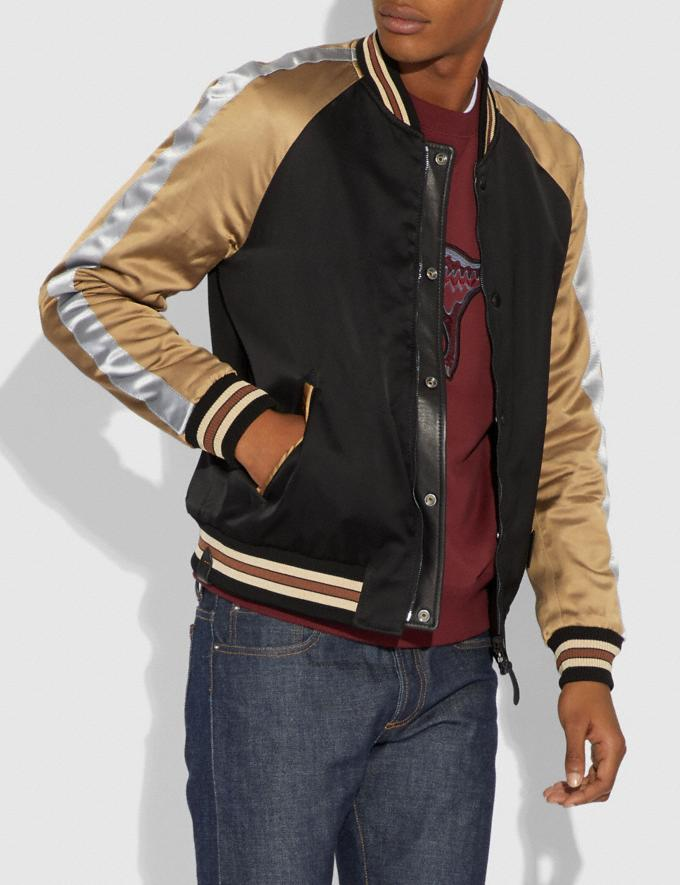 Coach Reversible Varsity Jacket Black/Caramel  Alternate View 4