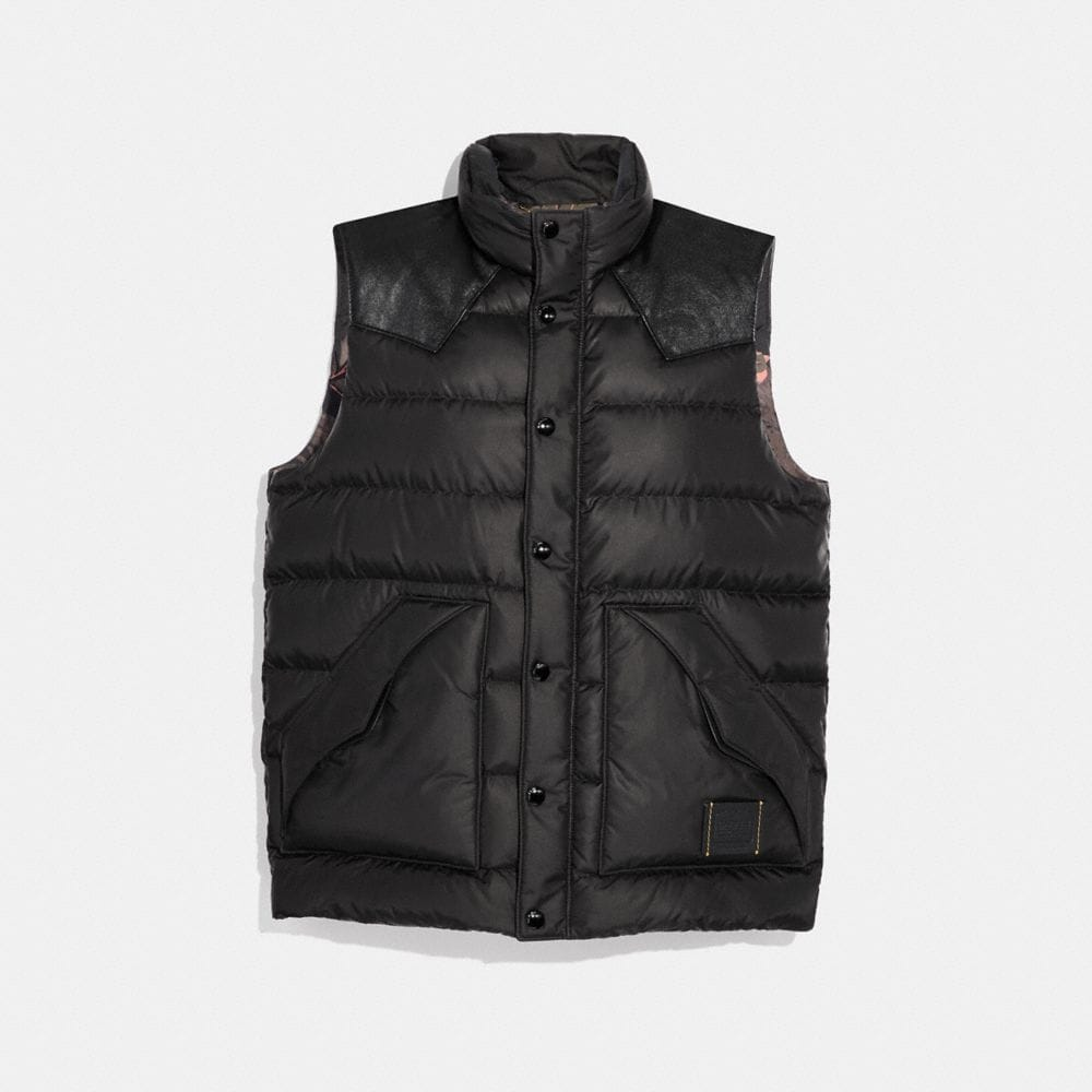 lightweight printed nylon vest