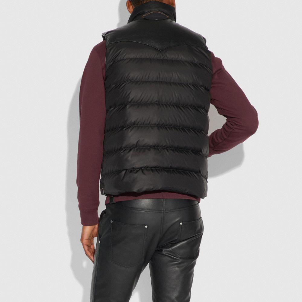 Coach Lightweight Printed Nylon Vest Alternate View 2