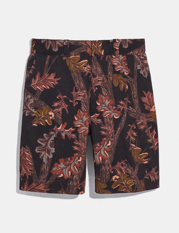 Coach Printed Shorts Black Foliage Camo