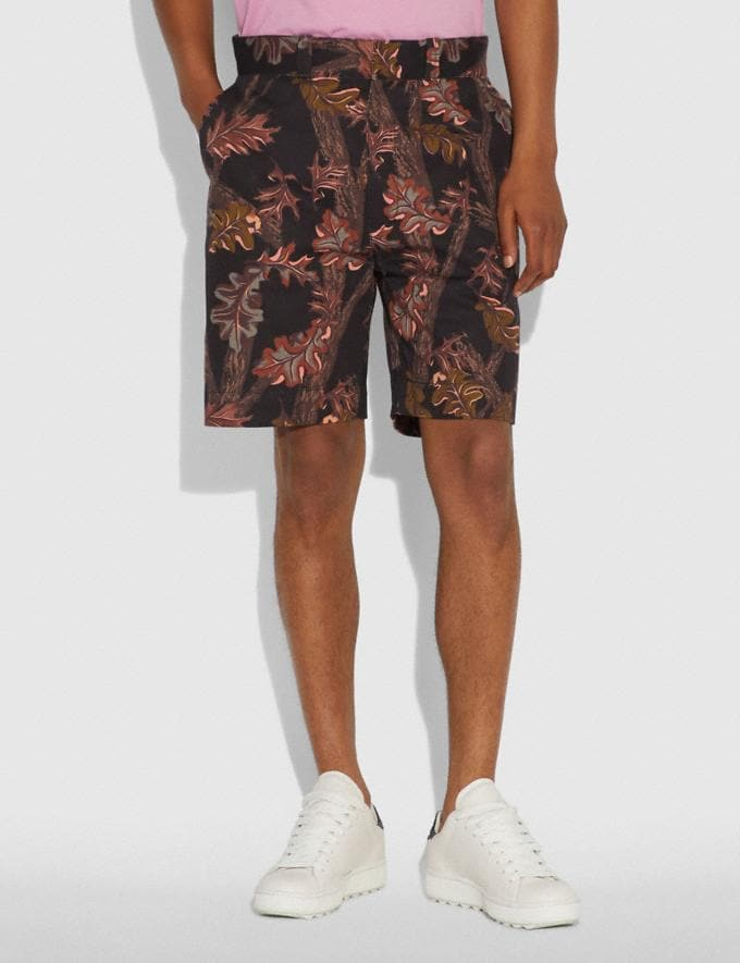 Coach Printed Shorts Black Foliage Camo  Alternate View 1