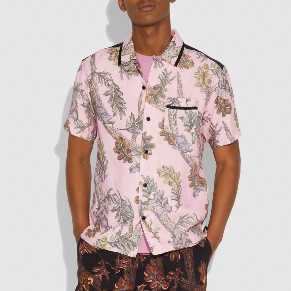 Coach Printed Short Sleeve Shirt Alternate View 1