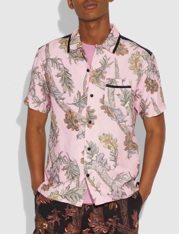 Coach Printed Short Sleeve Shirt Pink  Alternate View 1