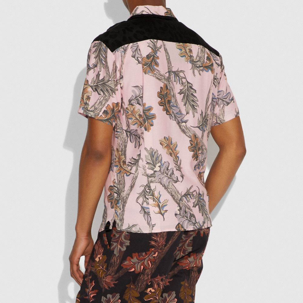Coach Printed Short Sleeve Shirt Alternate View 3