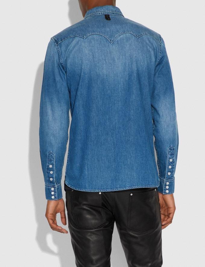 Coach Western Shirt Light Indigo Men Ready-to-Wear Apparel Alternate View 2
