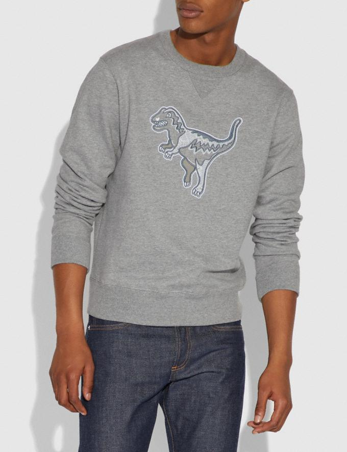 Coach Embellished Rexy Sweatshirt Heather Grey Men Ready-to-Wear Tops & Bottoms Alternate View 1