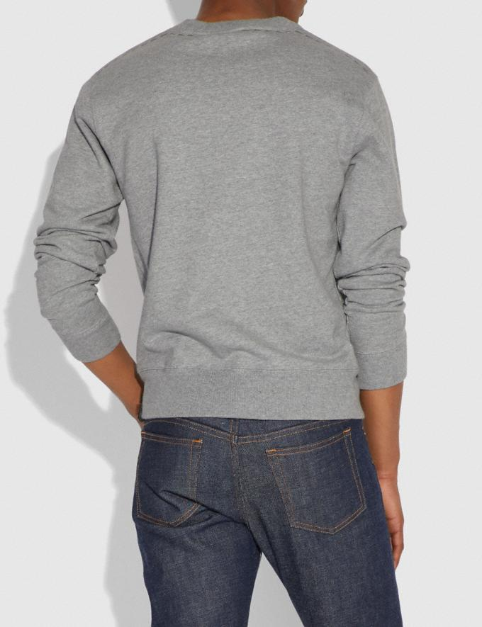 Coach Embellished Rexy Sweatshirt Heather Grey Men Ready-to-Wear Tops & Bottoms Alternate View 2