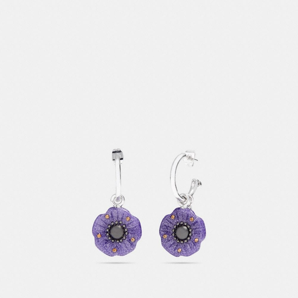 Coach Tea Rose Glitter Earrings