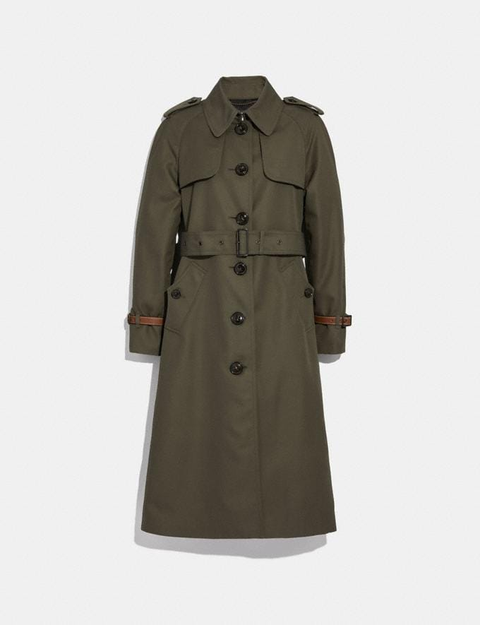 Coach Cotton Trench Coat Military