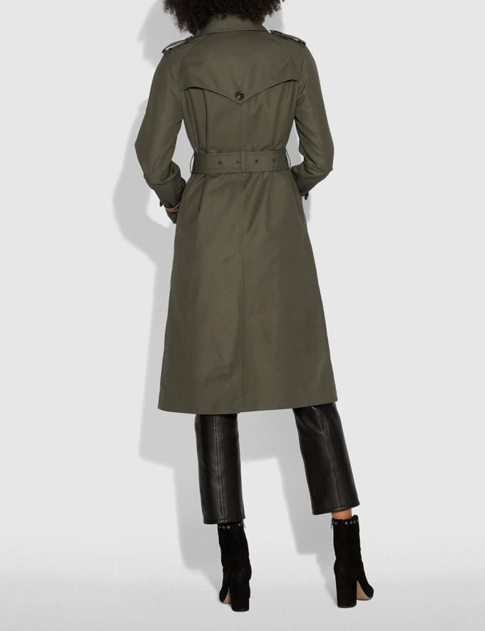 Coach Cotton Trench Coat Military  Alternate View 3