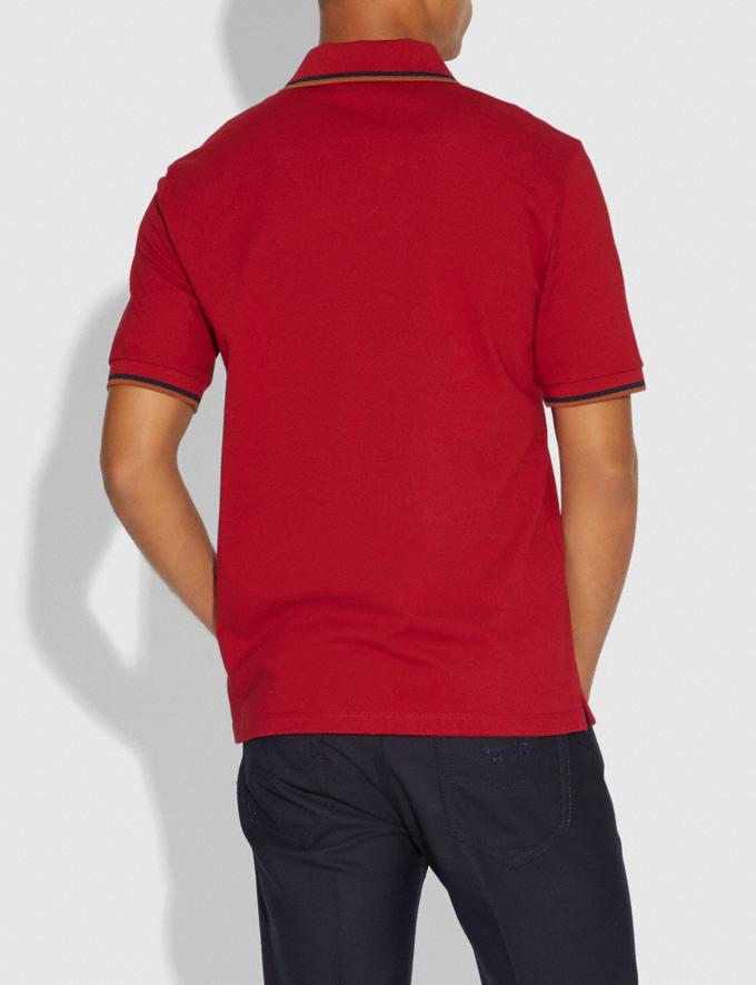 Coach Rexy Patch Polo Red  Alternate View 2