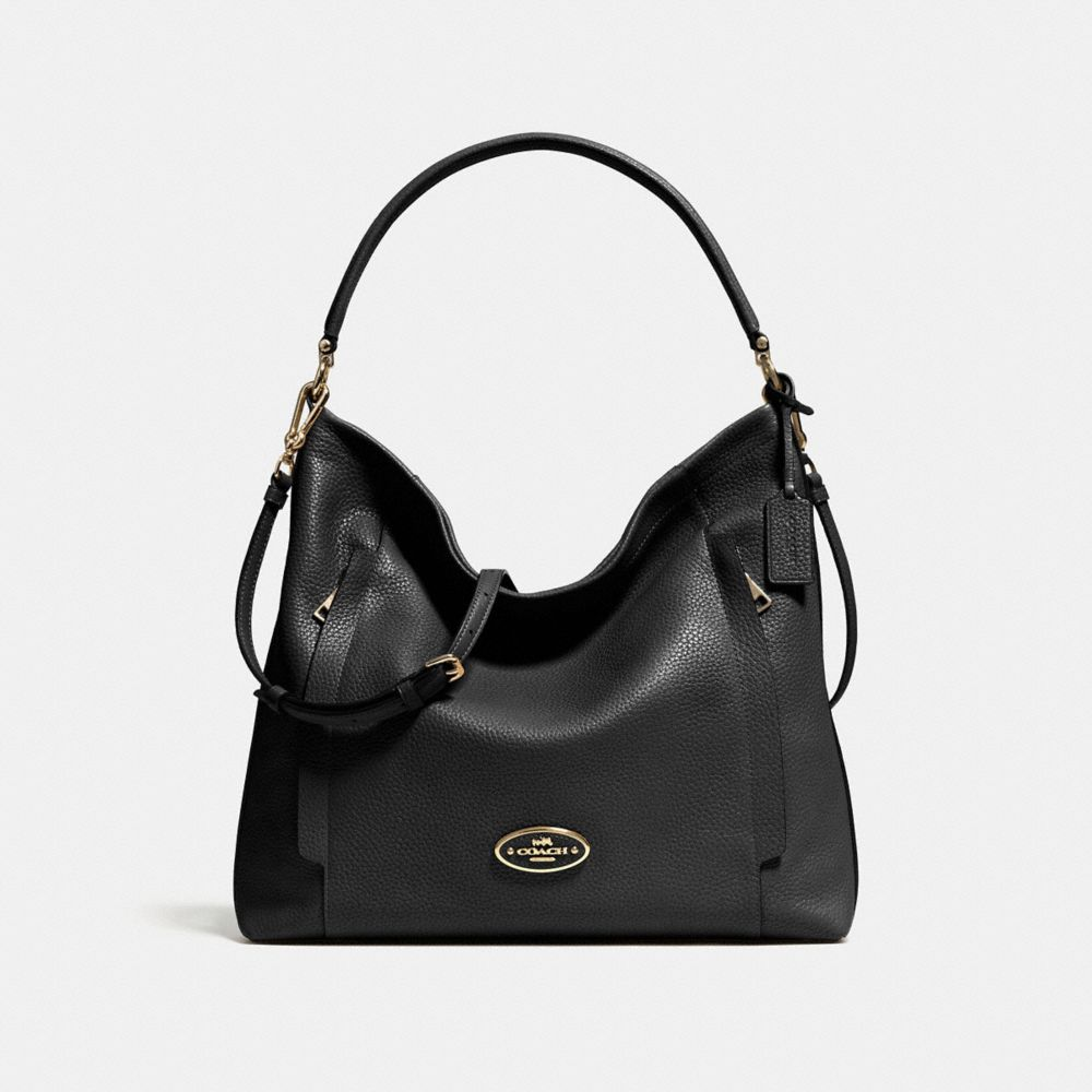coach large scout hobo in pebble leather rh uk coach com