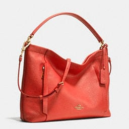 COACH Designer Purses | Scout Hobo In Pebble Leather