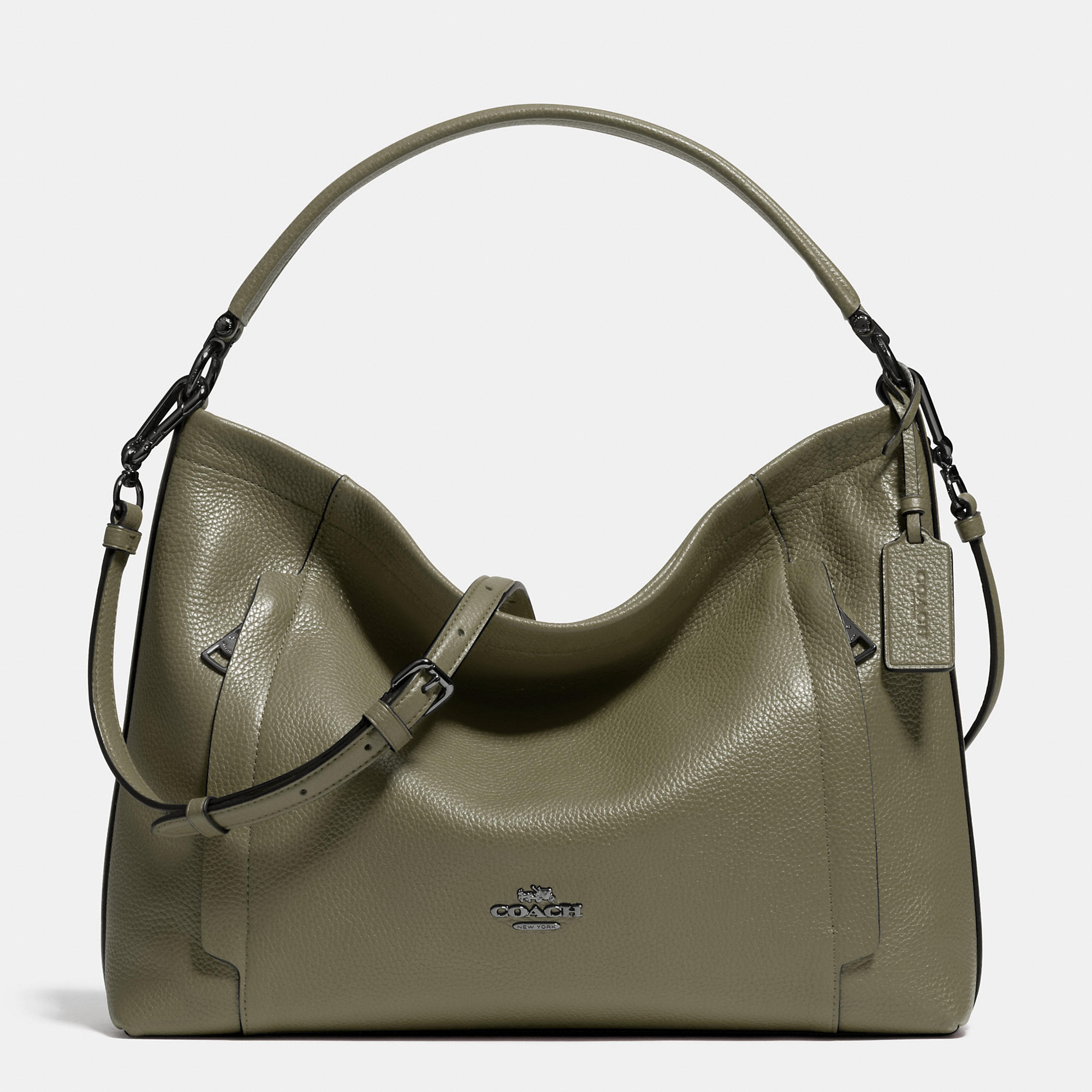 Coach Scout Hobo In Pebble Leather