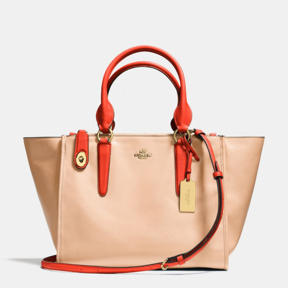 CROSBY CARRYALL IN TWO TONE LEATHER