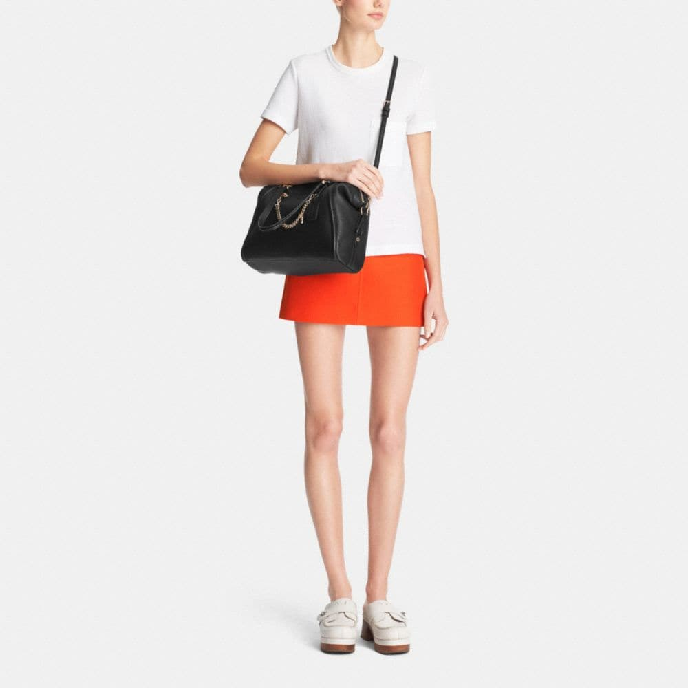 Prairie Satchel With Chain in Pebble Leather - Alternate View M1