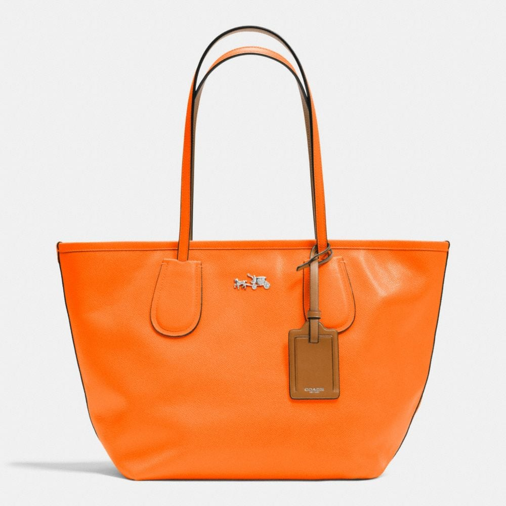 C.O.A.C.H. TAXI ZIP TOP TOTE IN CROSSGRAIN LEATHER