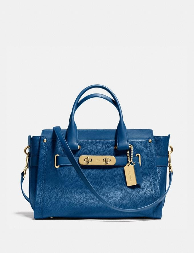 Coach Coach Swagger Carryall in Pebble Leather Li/Denim