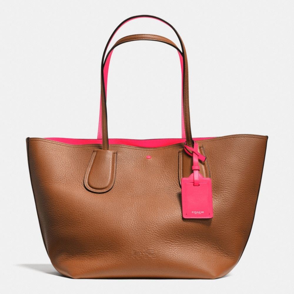 C.O.A.C.H. TAXI TOTE IN DOUBLE FACED PEBBLE LEATHER