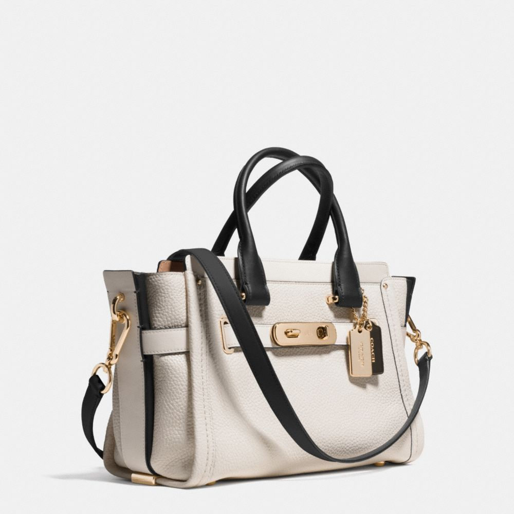 Coach Swagger 27 Carryall in Colorblock Leather - Alternate View A2