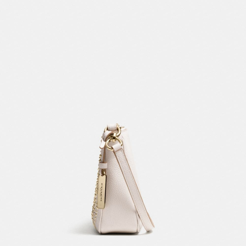 Mini Studs Zip Top Crossbody in Pebble Leather - Alternate View A1