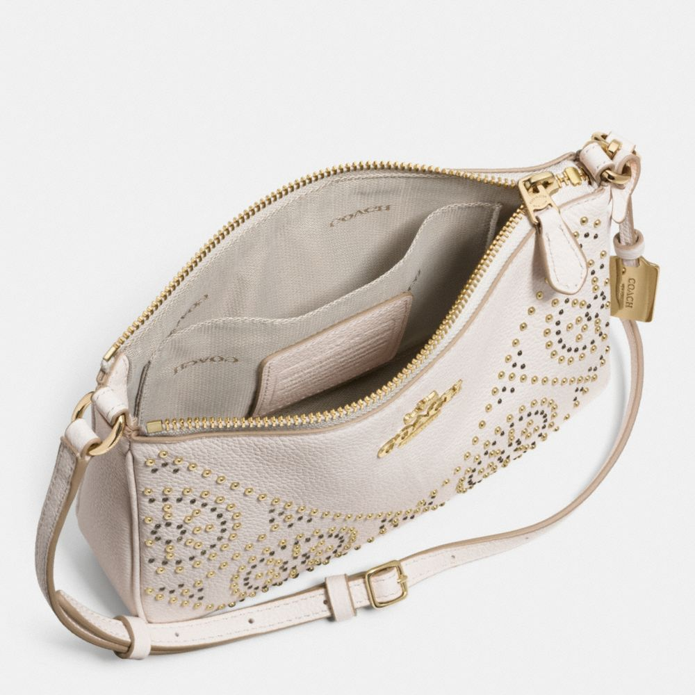 MINI STUDS ZIP TOP CROSSBODY IN PEBBLE LEATHER - Alternate View A3