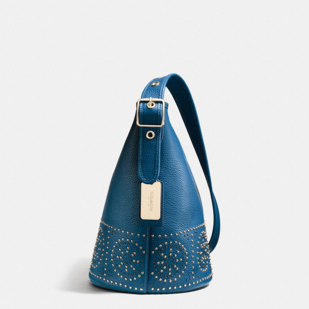 Mini Studs Mini Duffle Shoulder Bag in Pebble Leather - Alternate View A1