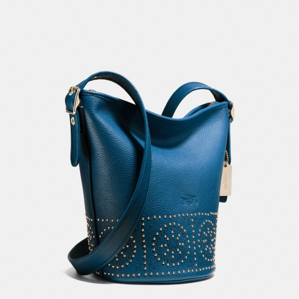 MINI STUDS MINI DUFFLE SHOULDER BAG IN PEBBLE LEATHER - Alternate View A2