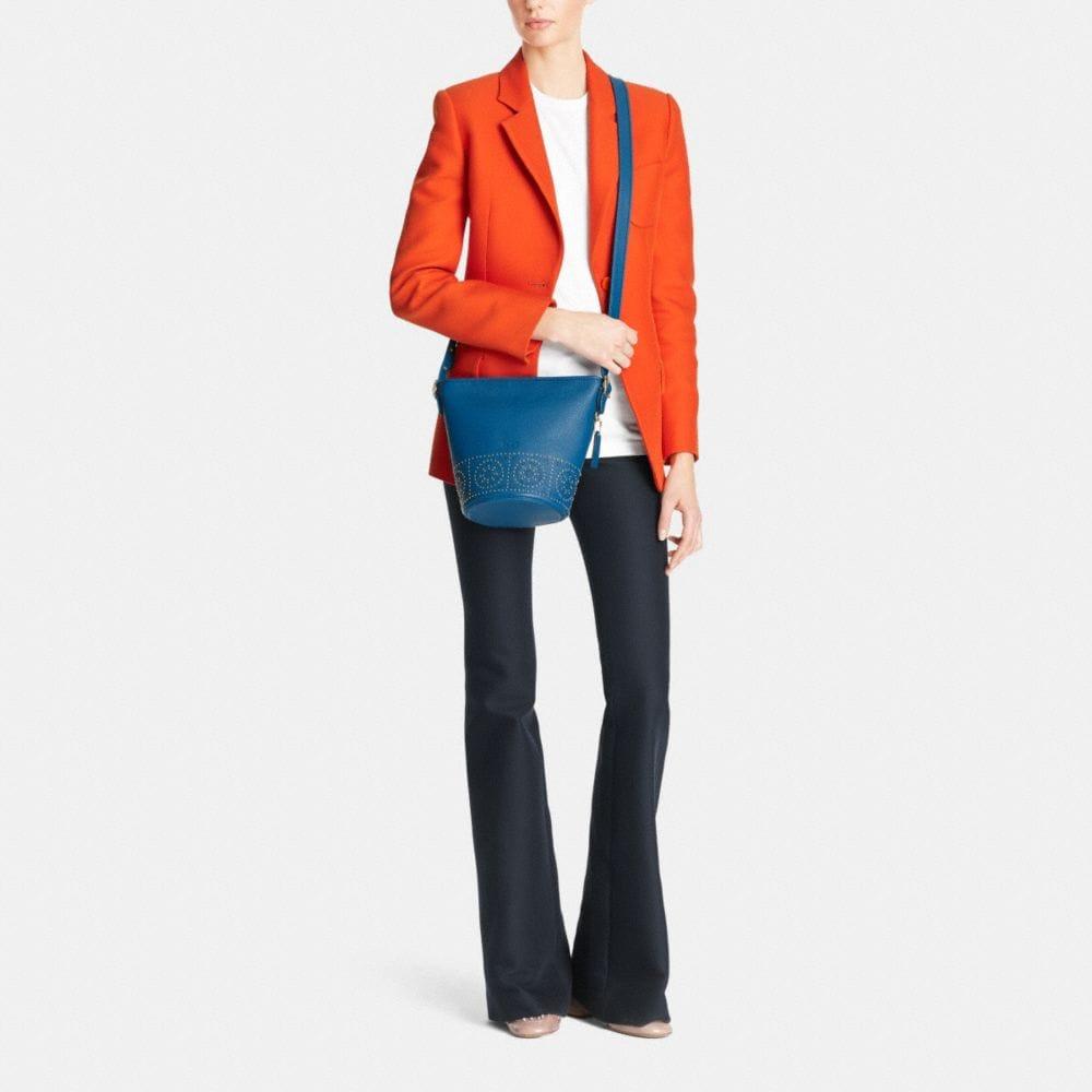 Mini Studs Mini Duffle Shoulder Bag in Pebble Leather - Alternate View M