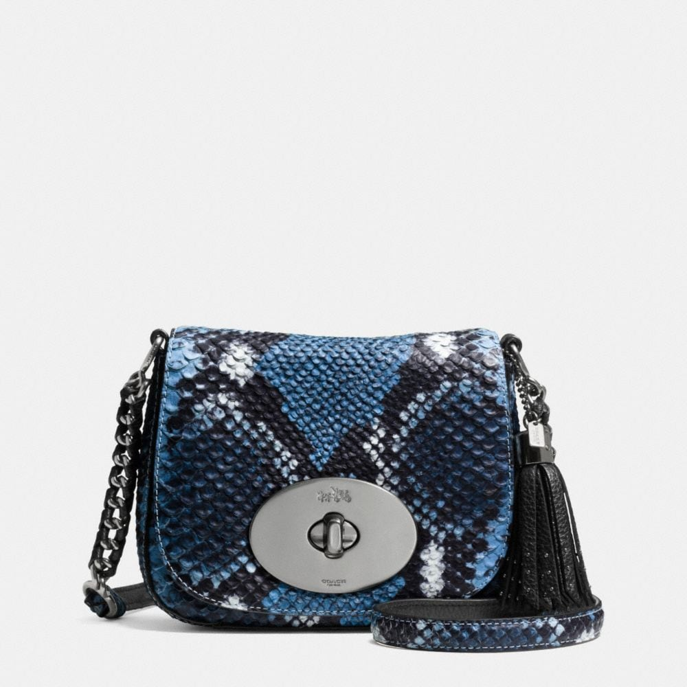 LIV CROSSBODY IN PYTHON EMBOSSED LEATHER