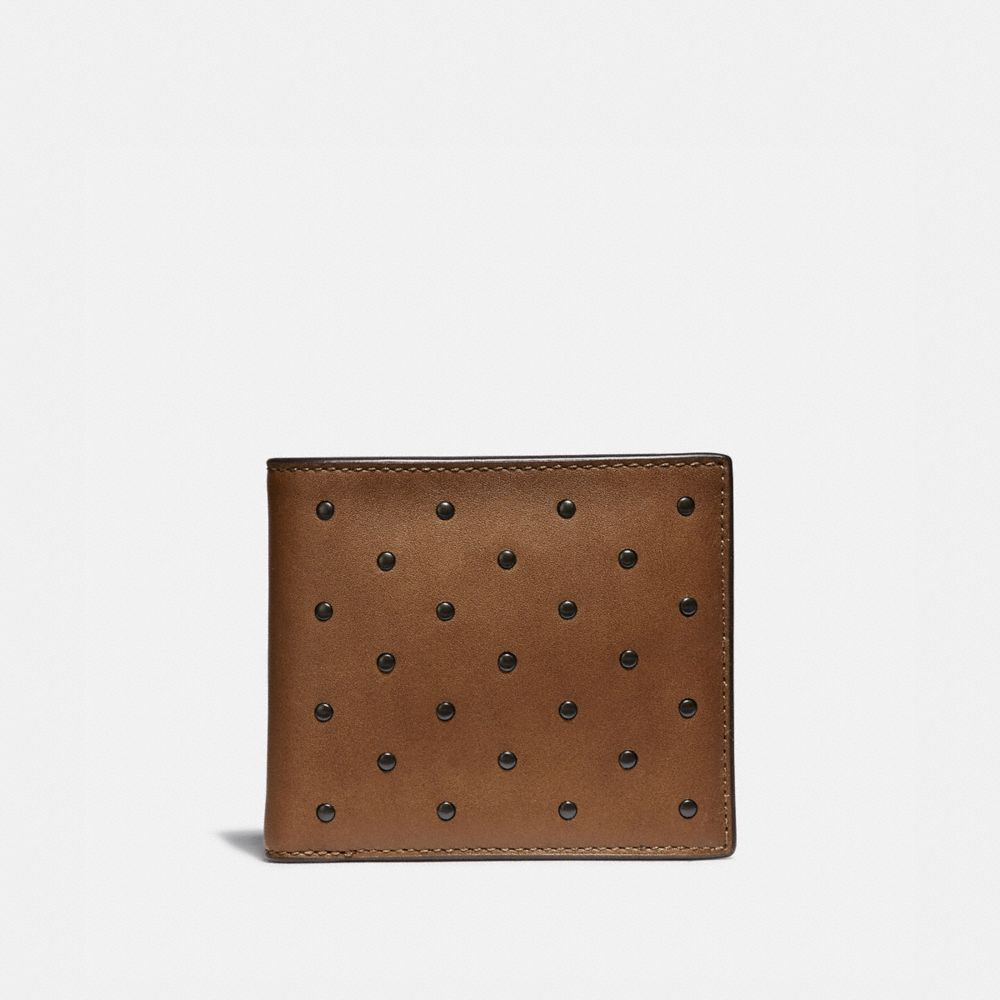 Coach Double Billfold Wallet With Rivets