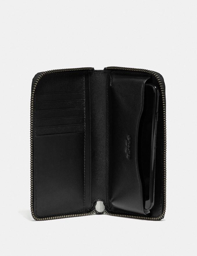 Coach Zip Around Phone Wallet Cadet Black Friday Men's Cyber Monday Sale Wallets Alternate View 1