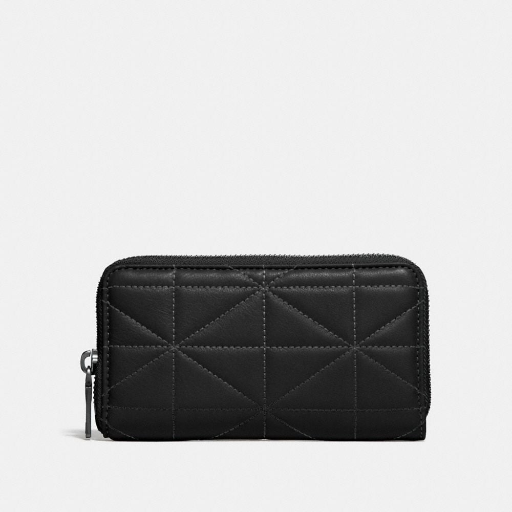Coach Zip Around Phone Wallet With Quilting