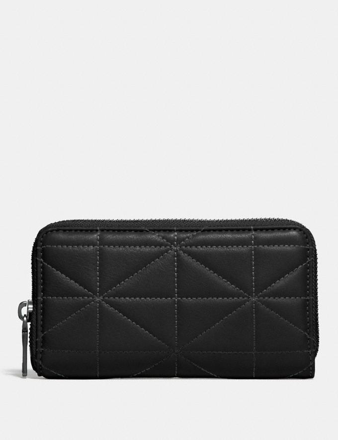 Coach Zip Around Phone Wallet With Quilting Black/Glade