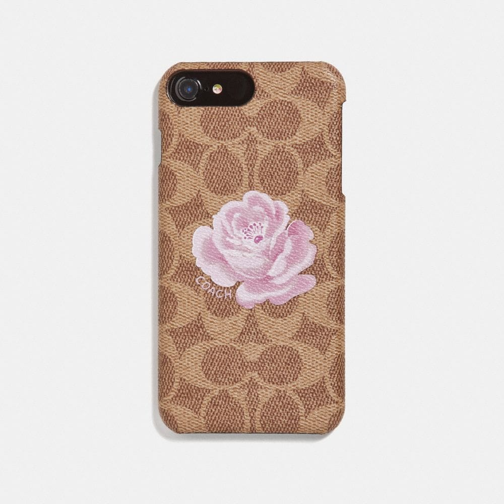 Coach iPhone 8 Plus Case in Signature Rose Print
