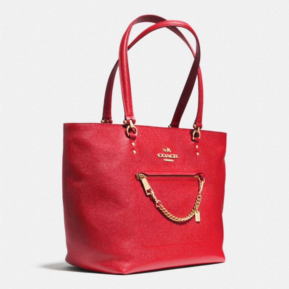 Town Car Tote in Crossgrain Leather - Alternate View A2
