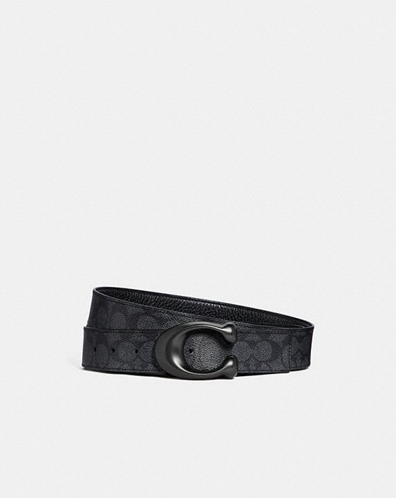 Coach SCULPTED SIGNATURE CUT-TO-SIZE REVERSIBLE BELT