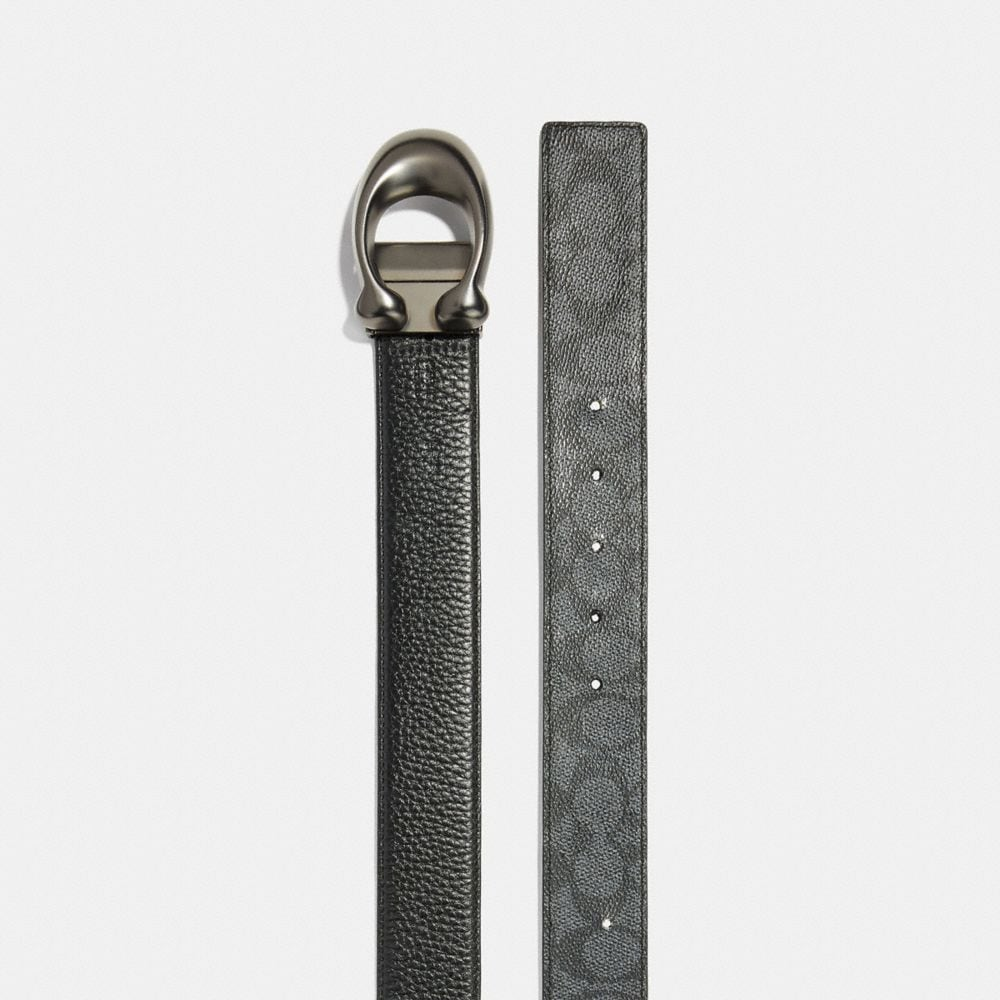 Coach Sculpted Signature Cut-To-Size Reversible Belt Alternate View 1